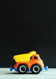 Plastic toy truck Royalty Free Stock Image