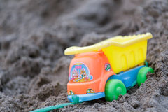 Plastic toy truck Royalty Free Stock Photo