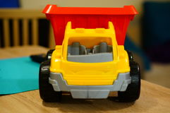 Plastic toy truck Stock Image