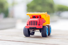 Plastic toy truck Royalty Free Stock Photography