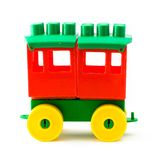 Plastic toy wagon Royalty Free Stock Photos