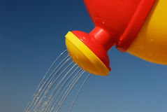 Plastic Toy Watering can Royalty Free Stock Photos