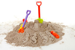 Plastic toys for beach and vacation Royalty Free Stock Images