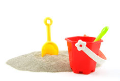 Plastic toys for beach and vacation Stock Images