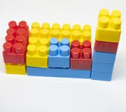 Plastic toys building blocks royalty free stock image