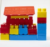 Plastic toys building blocks royalty free stock photography