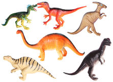 Plastic toys  - dinosaurs Royalty Free Stock Images