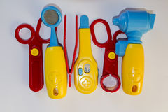Plastic toys , doctor set Royalty Free Stock Images