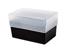 Plastic transparent container. Royalty Free Stock Photography