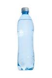 Plastic transperent blue Bottle of water isolated on white backg Stock Photo