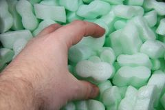 plastic transport foam for packaging Stock Photography