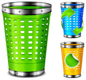 Plastic trash basket Royalty Free Stock Photos