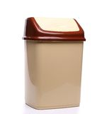 Plastic trash can close full face. On a white background Royalty Free Stock Image