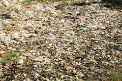 Plastic and trash pollution royalty free stock photography