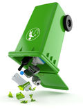 Plastic trashcan Stock Images