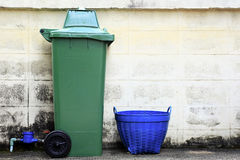 Plastic trashcan Stock Photo