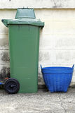 Plastic trashcan Royalty Free Stock Photos