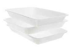 Plastic Trays Royalty Free Stock Photography