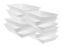 Plastic Trays Stock Photo