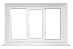 plastic tredubbelt vitt fönster för dörr arkivbild