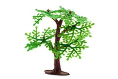 Plastic tree. Plastic toy tree isolated on white background Royalty Free Stock Photos
