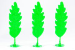 Plastic trees. Royalty Free Stock Image