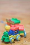 Plastic trein Stock Afbeelding