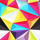 Plastic triangles. Bright seamless background with 3d plastic triangles Royalty Free Stock Photography