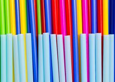 Plastic tube variety of colors. Royalty Free Stock Image