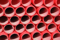 Plastic tubes Royalty Free Stock Photography