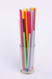 Plastic tubes of different colors Royalty Free Stock Photography