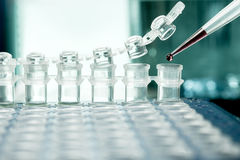 Plastic tubes for DNA amplification Stock Photos