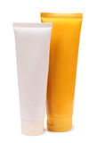 Plastic tubes for lotion Stock Photo