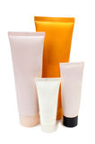 Plastic tubes lotion Stock Photo