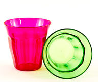 Plastic tumblers Royalty Free Stock Photos