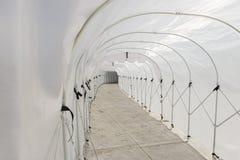Plastic tunnel guard against rain or sunlight Stock Photos