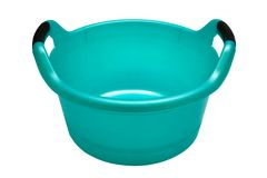 Plastic turquoise basin Royalty Free Stock Photo