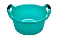 Plastic turquoise basin Royalty Free Stock Photo