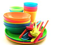 Plastic utensils Stock Image