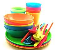 plastic utensils Fotografering för Bildbyråer