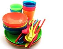 plastic utensils Royaltyfri Fotografi