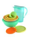 plastic utensils Royaltyfria Bilder