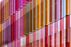 Plastic vanes. Brightly coloured plastic vanes on the side of a building in Oxford royalty free stock photography
