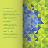 Plastic vector square template, with space for your content. Col Royalty Free Stock Images