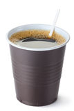 Plastic vending coffee cup Stock Image