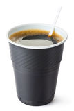 Plastic vending coffee cup Royalty Free Stock Photos