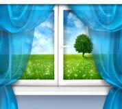 Plastic venster royalty-vrije stock afbeeldingen