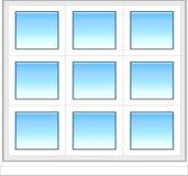 Plastic venster in kleur royalty-vrije illustratie