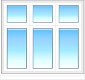 Plastic venster in kleur Royalty-vrije Stock Foto