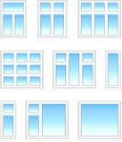 Plastic vensters in kleur Stock Foto's